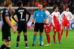 23-11-2019 NED: FC Utrecht - AZ Alkmaar, Utrecht<br /> Round 14 / Referee Bjorn Kuipers, Adam Maher #6 of FC Utrecht, Joris van Overeem #8 of FC Utrecht