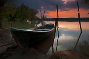 Danube river at sunset