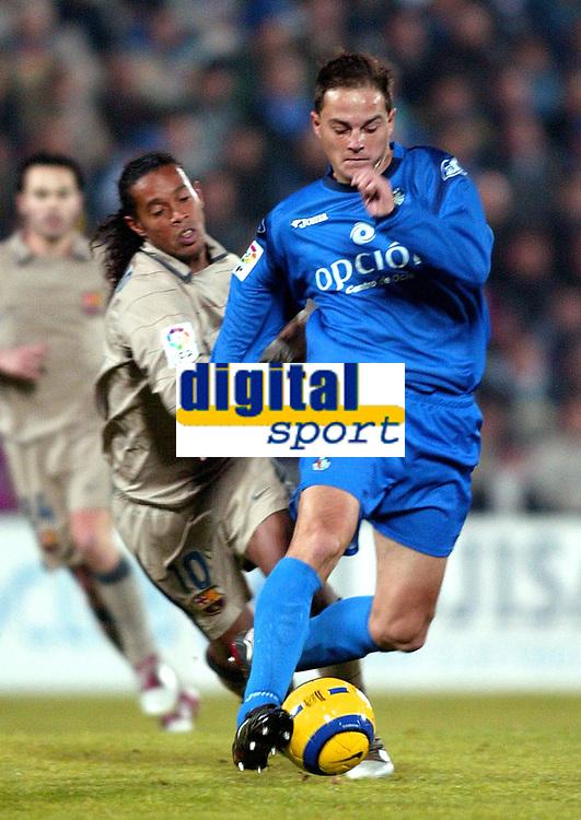 Fotball<br /> Spania 2004/05<br /> Getafe<br /> Foto: Digitalsport<br /> NORWAY ONLY<br /> Victoriano Rivas NANO
