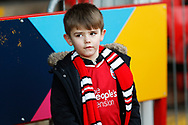 Crawley Town fan before the EFL Sky Bet League 2 match between Walsall and Crawley Town at the Banks's Stadium, Walsall, England on 18 January 2020.