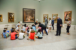 King Felipe VI of Spain and Queen Letizia during the visit to the Prado Museum with students of the school program 'The Art of Educating' (El Arte de Educar) at Prado Museum in Madrid, Spain, on June 19, 2017. Photo by Archie Andrews/ABACAPRESS.COM