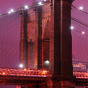 The Brooklyn Bridge riser, 1595.5 feet long and completed in 1883, is a National Historic Landmark that connects Manhattan and Brooklyn by spanning the East River.