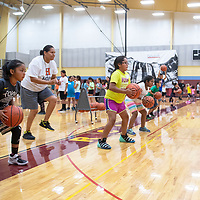 An offensive drill at Rehoboth Christian School's True Hoops Basketball Camp, Tuesday, July 16 at Rehoboth High School.