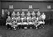 Irish Rugby Football Union, Ireland v Scotland, Five Nations, Landsdowne Road, Dublin, Ireland, Saturday 27th February, 1960,.27.2.1960, 2.27.1960,..Referee- D G Walters, Welsh Rugby Union, ..Score- Ireland 5 - 6 Scotland, ..Irish Team, ..T J Kiernan,  Wearing number 15 Irish jersey, Full Back, University college Cork Football Club, Cork, Ireland,..W W Bornemann, Wearing number 14 Irish jersey, Right Wing, Wanderers Rugby Football Club, Dublin, Ireland, ..J C Walsh,  Wearing number 13 Irish jersey, Right Centre, University college Cork Football Club, Cork, Ireland,..D Hewitt, Wearing number 12 Irish jersey, Left centre, Queens University Rugby Football Club, Belfast, Northern Ireland,..A C Pedlow, Wearing number 11 Irish jersey, Left wing,  C I Y M S Rugby Football Club, Belfast, Northern Ireland, ..M A English, Wearing number 10 Irish jersey, Outside Half, Bohemians Rugby Football Club, Limerick, Ireland,..A A Mulligan, Wearing number 9 Irish jersey, Captain of the Irish team, Scrum Half, London Irish Rugby Football Club, Surrey, England, ..B G Wood, Wearing number 1 Irish jersey, Forward, Landsdowne Rugby Football Club, Dublin, Ireland, ..B McCallan, Wearing number 2 Irish jersey, Forward, Ballymena Rugby Football Club, Antrim, Northern Ireland,..S Millar, Wearing number 3 Irish jersey, Forward, Ballymena Rugby Football Club, Antrim, Northern Ireland,..W A Mulcahy, Wearing number 4 Irish jersey, Forward, University College Dublin Rugby Football Club, Dublin, Ireland, ..M G Culliton, Wearing number 5 Irish jersey, Forward, Wanderers Rugby Football Club, Dublin, Ireland, ..N Murphy, Wearing number 6 Irish jersey, Forward, Cork Constitution Rugby Football Club, Cork, Ireland,..T McGrath, Wearing number 7 Irish jersey, Forward, Garryowen Rugby Football Club, Limerick, Ireland, ..J R Kavanagh, Wearing number 8 Irish jersey, Forward, Wanderers Rugby Football Club, Dublin, Ireland,