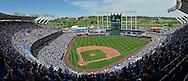 May 17, 2015; Kansas City, MO, USA; A general view of Kauffman Stadium during a game between the Kansas City Royals and the New York Yankees at Kauffman Stadium. Mandatory Credit: Peter G. Aiken-USA TODAY Sports