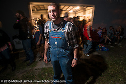 Moonshiners TV show star Josh Owens at the Industry party at Bill Dodge's bike shop during the 2015 Biketoberfest Rally. Daytona Beach, FL, USA. October 16, 2015.  Photography ©2015 Michael Lichter.