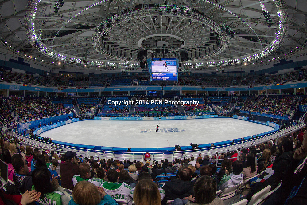Men's Figure Skating competition at the Iceberg Skating Palace at the Olympic Winter Games, Sochi 2014
