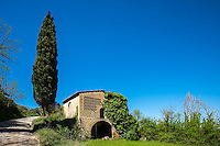 SAN GIMIGNANO, ITALY - CIRCA MAY 2015:  Abandoned house near San Gimignano in Tuscany