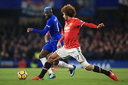 5 November 2017 -  Premier League - Chelsea v Manchester United - Tiemoue Bakayoko of Chelsea robs Marouane Fellaini of Manchester United of the ball - Photo: Marc Atkins/Offside