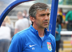 May 31, 2018 - London, United Kingdom - Beslan Adzhinzhal Head Coach of Abkhazia.during Conifa Paddy Power World Football Cup 2018  Group B match between  Abkhazia  against Tibet at Queen Elizabeth II Stadium (Enfield Town FC), London, on 31 May 2018  (Credit Image: © Kieran Galvin/NurPhoto via ZUMA Press)