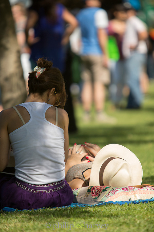 Spectators relaxing, The Campo Argentina Del Polo, Buenos Aires, Argentina, South America