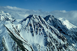 Alaska: Mt. McKinley in Denali Natl Park, Fly-in aerial,  Photo akgran103.  .Photo copyright Lee Foster, 510/549-2202,  lee@fostertravel.com, www.fostertravel.com