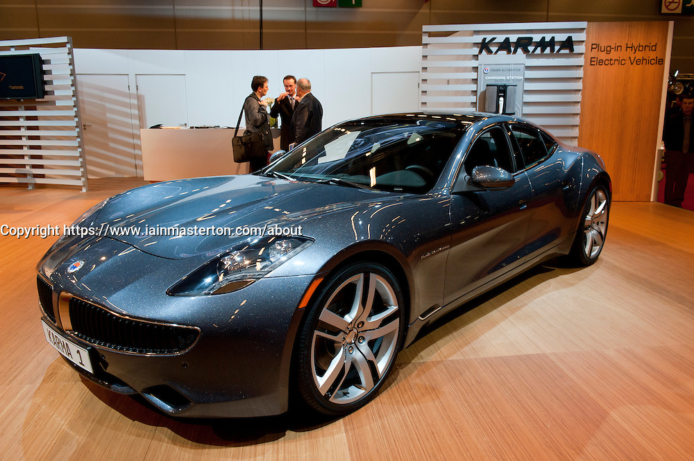 Fisker Karma electric hybrid car at Paris Motor Show 2010