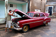 Car repair in Gibara, Holguin, Cuba.