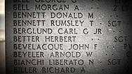NEW YORK  2020V10<br /> Carl G Berglund JR inpräntad på minnesmonumentet över stupade i andra världskriget. Monumentet finns i Battery Park.<br /> <br /> Foto: Per Danielsson/Projekt.P