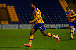 Jamie Reid of Mansfield Town celebrates his goal doubling his sides advantage - Mandatory by-line: Ryan Crockett/JMP - 17/02/2021 - FOOTBALL - One Call Stadium - Mansfield, England - Mansfield Town v Bolton Wanderers - Sky Bet League Two