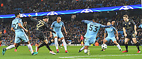 Celtic's Patrick Roberts scores his team's first goal<br /> <br /> Photographer Dave Howarth/CameraSport<br /> <br /> UEFA Champions League Group C - Manchester City v Glasgow Celtic - Tuesday 6th December 2016 - Etihad Stadium - Manchester<br />  <br /> World Copyright © 2016 CameraSport. All rights reserved. 43 Linden Ave. Countesthorpe. Leicester. England. LE8 5PG - Tel: +44 (0) 116 277 4147 - admin@camerasport.com - www.camerasport.com