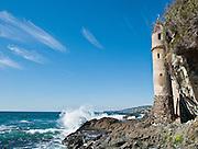 Victorian Lighthouse at Victoria Beach in Laguna Beach California