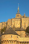 Mont Saint-Michel wall and abbey - Brittany - France