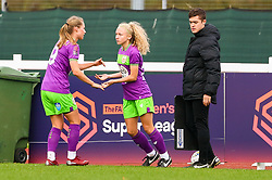 Katie Robinson of Bristol City Women replaces Juliette Kemppi of Bristol City to make her debut appearance - Mandatory by-line: Ryan Hiscott/JMP - 14/10/2018 - FOOTBALL - Stoke Gifford Stadium - Bristol, England - Bristol City Women v Birmingham City Women - FA Women's Super League 1