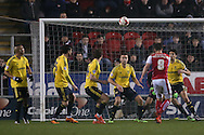 Rotherham United midfielder Lee Frecklington (8)  shot goes over the bar during the Sky Bet Championship match between Rotherham United and Middlesbrough at the New York Stadium, Rotherham, England on 8 March 2016. Photo by Simon Davies.