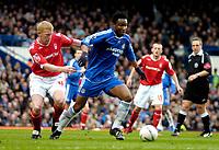 Photo: Ed Godden/Sportsbeat Images.<br /> Chelsea v Nottingham Forest. The FA Cup. 28/01/2007.<br /> Forest's Gary Holt (L), holds back Mikel.