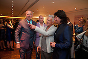 MICHAEL BARRYMORE; NICKY HASLAM; LAURENCE LLEWELLEN-BOWEN, Book launch party for the paperback of Nicky Haslam's book 'Sheer Opulence', at The Westbury Hotel. London. 21 April 2010