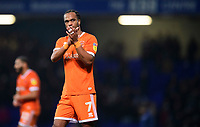 Blackpool's Nathan Delfouneso applauds the fans at the final whistle<br /> <br /> Photographer Chris Vaughan/CameraSport<br /> <br /> The EFL Sky Bet League One - Ipswich Town v Blackpool - Saturday 23rd November 2019 - Portman Road - Ipswich<br /> <br /> World Copyright © 2019 CameraSport. All rights reserved. 43 Linden Ave. Countesthorpe. Leicester. England. LE8 5PG - Tel: +44 (0) 116 277 4147 - admin@camerasport.com - www.camerasport.com