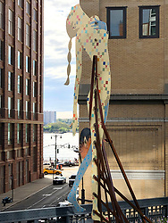 May 13, 2019 - New York City, New York, U.S. - 'Sister of the Road' by Dutch artist Laura Schnitger is part of the Ein Plein Air exhibit on display along the High Line on the West Side in Manhattan. (Credit Image: © Nancy Kaszerman/ZUMA Wire)
