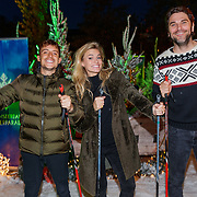 NLD/Amsterdam/20181016 - Presentatie in de Sneeuw met Lil Kleine. Nicolette van Dam en Xander de Buisonje, op langlauf sjies