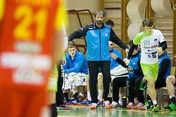 Veselin Vujovic, head coach of Slovenia during friendly handball match between National Teams of Slovenia and F.Y.R. of Macedonia before EHF EURO 2016 in Poland on January 4, 2015 in Sports hall Krsko, Krsko, Slovenia. Photo by Urban Urbanc / Sportida