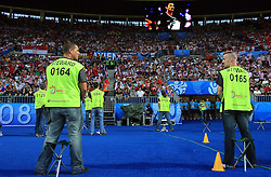 Security during the UEFA EURO 2008 Quarter-Final soccer match between Croatia and Turkey at Ernst-Happel Stadium, on June 20,2008, in Wien, Austria. Turkey won after penalty shots. (Photo by Vid Ponikvar / Sportal Images)