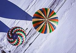 04.02.2019, Zell am See - Kaprun, AUT, BalloonAlps, im Bild Heissluftballone beim Start am Flugplatz Zell am See // Hot air balloons take off at the airfield Zell am See during the International Balloonalps Alps Crossing Event, Zell am See Kaprun, Austria on 2019/02/04. EXPA Pictures © 2019, PhotoCredit: EXPA/ JFK