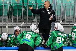 Mitja Sivic, head coach of HK SZ Olimpija during ice hockey match between HK SZ Olimpija Ljubljana and EC GRAND Immo VSV in bet-at-home ICE Hockey League, on October 22, 2021 in Hala Tivoli, Ljubljana, Slovenia. Photo by Morgen Kristan / Sportida