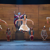 Members of the Yvette Bozsik company perform during a dress rehearsal of the piece Pinocchio choreographed by Yvette Bozsik in Budapest, Hungary on January 17, 2017. ATTILA VOLGYI