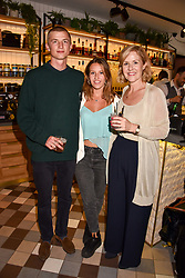 Milo Smith, Ella Mountbatten and Lady Penny Mountbatten at a party to celebrate the launch of Hans' Bar & Grill, 11 Cadogan Gardens, Chelsea, London, England. 07 June 2018.
