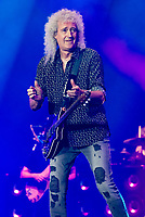 Brian May rushed to hospital after heart attack  photos at the Queen + Adam Lambert  gig Fire Fight Australia at the  ANZ Stadium Sydney Australa 16 Feb 2020 Photo BY Rhiannon Hopley