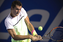 Australia's Bernard Tomic returns the ball during the men's singles match against Spain's David Ferrer at the Abierto Mexicano Telcel tennis tournament in Acapulco, Guerrero, Mexico, Feb. 26, 2015. Tomic lost 1-2. EXPA Pictures © 2015, PhotoCredit: EXPA/ Photoshot/ Alejandro Ayala<br /> <br /> *****ATTENTION - for AUT, SLO, CRO, SRB, BIH, MAZ only*****