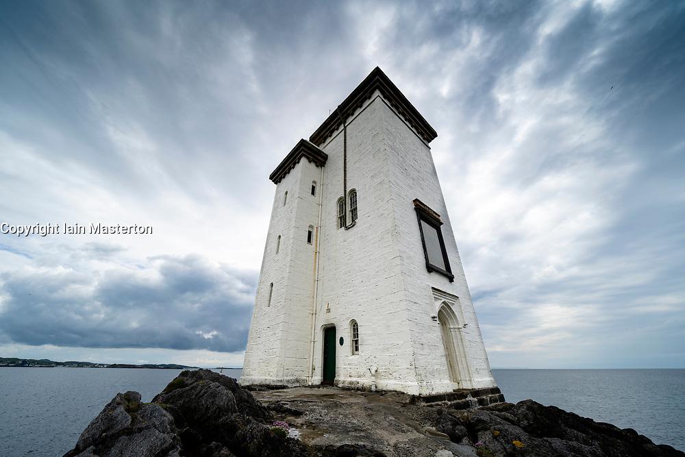 Port Ellen Lighthouse at Carraig Fhada  on Islay in Inner Hebrides, Scotland , UK