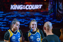 Mexime van Driel, Emi van Driel during the ceremony on the last day of the beach volleyball event King of the Court at Jaarbeursplein on September 12, 2020 in Utrecht.