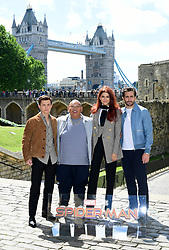 Tom Holland, Jacob Batalon, Zendaya and Jake Gyllenhaal attending the Spider-Man: Far From Home Photocall held at the Tower of London.
