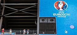 11.06.2016, Stade Velodrome, Marseille, FRA, UEFA Euro, Frankreich, England vs Russland, Gruppe B, im Bild EURO 2016 Frankreich Logo auf dem Stadion // EURO 2016 France Logo on the Stand brfore Group B match between England and Russia of the UEFA EURO 2016 France at the Stade Velodrome in Marseille, France on 2016/06/11. EXPA Pictures © 2016, PhotoCredit: EXPA/ JFK