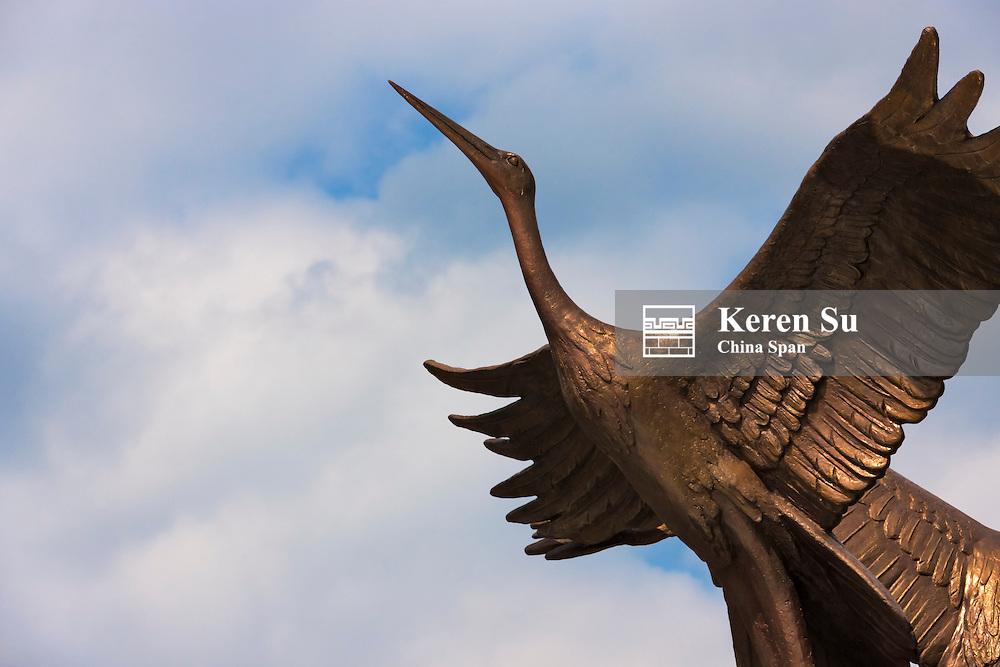 Stork statue in Independence Square, Minsk, Belarus