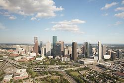Western aerial view of downtown Houston,Texas skyline.