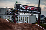 #232 (KRASEVSKIS Matt) AUS [Radio] at Round 7 of the 2019 UCI BMX Supercross World Cup in Rock Hill, USA