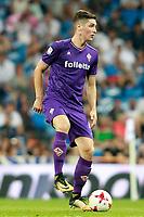 ACF Fiorentina's Nikola Milenkovic during Santiago Bernabeu Trophy. August 23,2017. (ALTERPHOTOS/Acero)