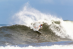 Finn McGill of Hawaii advances to round three after placing first in round two heat 3 of the 2018 Hawaiian Pro at Haleiwa, Oahu, Hawaii, USA.