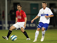 Photo: Paul Thomas.<br />Manchester United v Stockport County. Manchester Senior Cup. 01/11/2007.<br /><br />Gary Neville (L) of Man Utd makes his return from injury in this reserve game against Stockport.