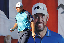 Northern Ireland's Graeme McDowell after a double bogey on the 18th during day one of the British Masters at Close House Golf Club, Newcastle.