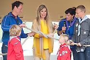 Koningin Maxima verricht de opening van Scoutinglandgoed Zeewolde, waar scouts kunnen kamperen en me